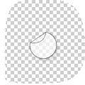 ronde transparante stickers drukken 11 cm