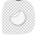 ronde transparante stickers met witte steunkleur