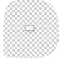rechthoekige transparante stickers bedrukt met wit