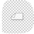 transparante stickers met wit als steunkleur, 9 x 14 cm