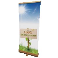 De enige 100% milieuvriendelijke Rollup Banner Eco, de houten rolbanner