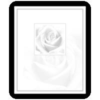 Rouwkaarten drukken - circulaire 0105 witte roos