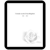 Rouwkaarten drukken - circulaire 0106 witte roos, model B