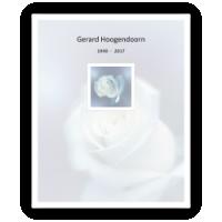 Rouwkaarten drukken - circulaire 0107 witte roos, model C