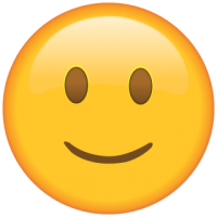 Life size Emoji Slightly Smiling face