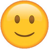 Life size Emoji Slightly Smiling face