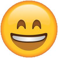 Life size Emoji Smiling Eyes