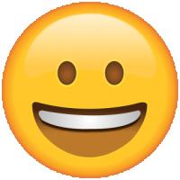 Life size Emoji Smiling Face