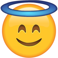 Life size Emoji Smiling Face with Halo
