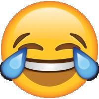 Life size Emoji Tears of Joy