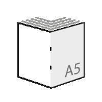 De goedkoopste A5 boekjes drukken in kleur, gevouwen naar A4 formaat