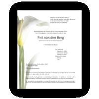 Rouwkaarten laten drukken met voorbeelden van bloemen