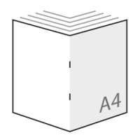 goedkoop A4 boekjes drukken in kleur, gevouwen naar A4 formaat
