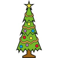 levensgrote kerstboom van karton, 80 cm breed