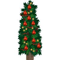 type E, levensgrote kerstboom van karton, 80 cm breed