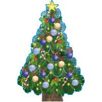 type C, levensgrote kerstboom van karton, 80 cm breed