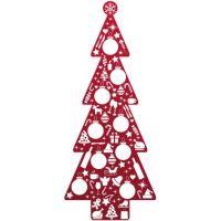 type B, levensgrote kerstboom van karton, 80 cm breed