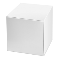 Bedrukte grote kubus dozen