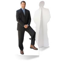 Een zelfstaande advocaat van karton is de ultieme blikvanger!