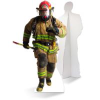 Een zelfstaande brandweerman van karton is de ultieme blikvanger!