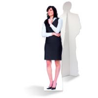 Een zelfstaande zakenvrouw van karton is de ultieme blikvanger!