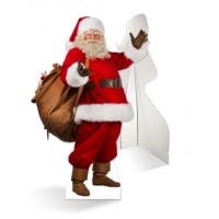 Een zelfstaande echte kerstman van karton is de ultieme blikvanger!