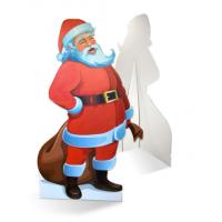 Een zelfstaande kerstman van karton is de ultieme blikvanger!