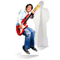 Een zelfstaande gitarist van karton is de ultieme blikvanger!