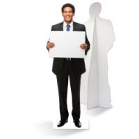 Een zelfstaande zakenman van karton is de ultieme blikvanger!