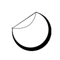 ronde stickers drukken 20 cm