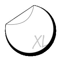 grote ronde stickers drukken 25 cm
