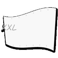 groot spandoek  - xl doek op 5 x 7 meter