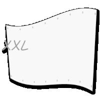 groot spandoek  - xl doek op 5 x 8 meter