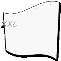 groot spandoek  - xl doek op 5 x 9 meter
