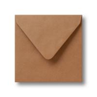 16 x 16 cm vierkante kraft enveloppen
