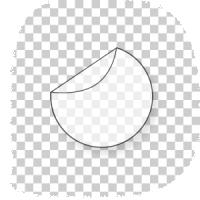 ronde transparante stickers drukken 17 cm