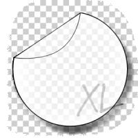 ronde transparante raamstickers