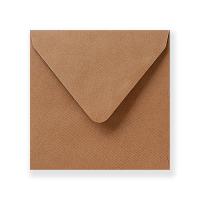 Vierkante kraft enveloppen 14 cm