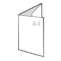 a4 drieluik folders drukken op 160 gr papier