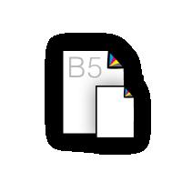 B5 flyers laten drukken op mooi papier 135 grs hv mc
