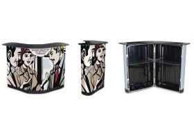 De Case and Counter is gemaakt van het sterkste materiaal en is te gebruiken om een grote beurswand te vervoeren.