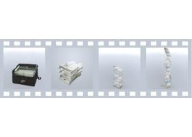 De tweezijdige folder is eenvoudig neer te zetten en staat op stabiele basisvoet