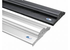 zwarte of zilveren rollup systeem