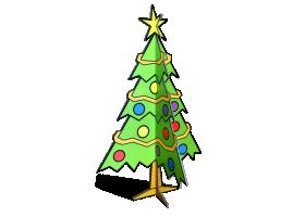 3d kerstboom van karton
