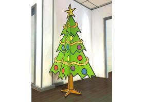 Voorbeeld van een kartonnen kerstboom