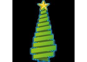 type D, levensgrote kerstboom van karton, 80 cm breed