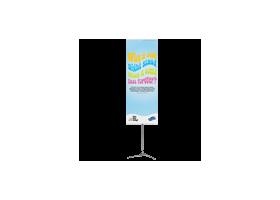 85 x 250 cm Pole System banner, de hoogste lichtgewicht banner
