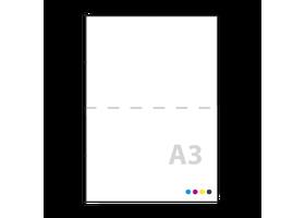 a3 posters drukken op 150grs iets dikker papier, mat of gloss