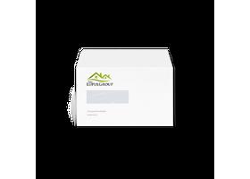 bedrukte enveloppen op A5 formaat met venster links