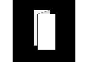 folders drukken twee slagen gevouwen